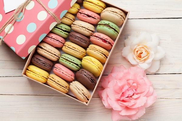 hausgemachte französische macarons verschenken