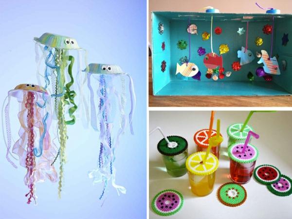 kreative sommerdeko basteln mit kindern