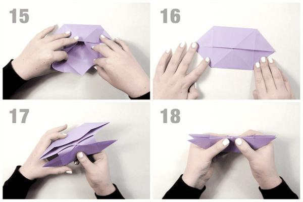 origami anleitung schmetterling basteln