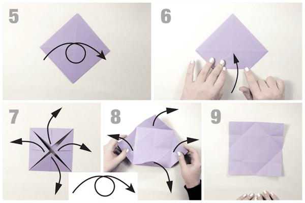 origami falten schmetterling basteln aus papier