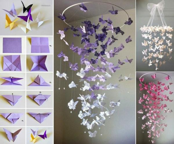 origami schmetterling basteln aus papier