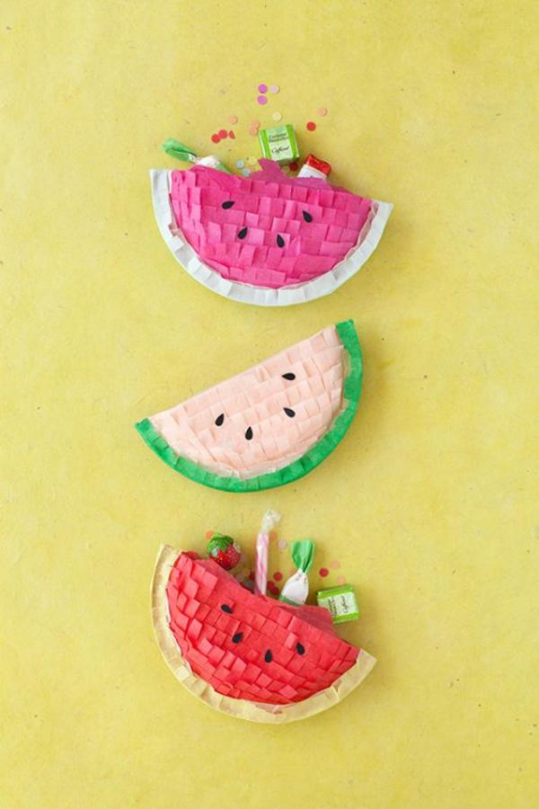 pinata wassermelone basteln mit kindern