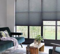 Hochwertige Plissees in Trendfarben sorgen für mehr Stil und Wohnlichkeit im Interieur