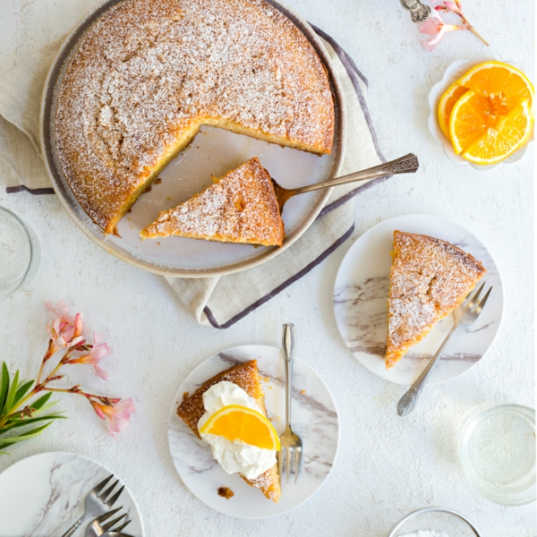 sahne orange olive oil cake