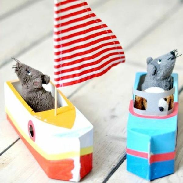 schiffe aus tetrapack basteln mit kindern