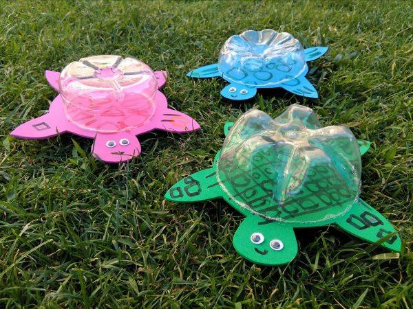 schildkröten basteln mit kindern sommer