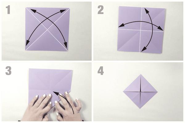 schmetterling basteln origami falten