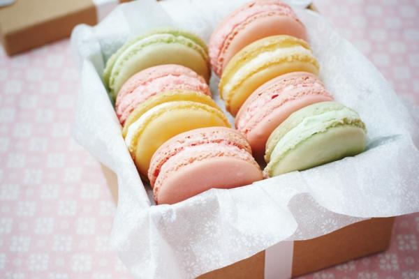 selbstgemachte geschenke französische macarons