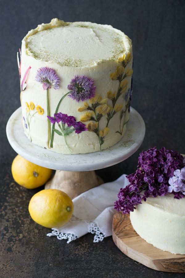 sommerkuchen essbare blüten olive oil cake