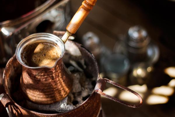türkischer kaffee traditionelle art
