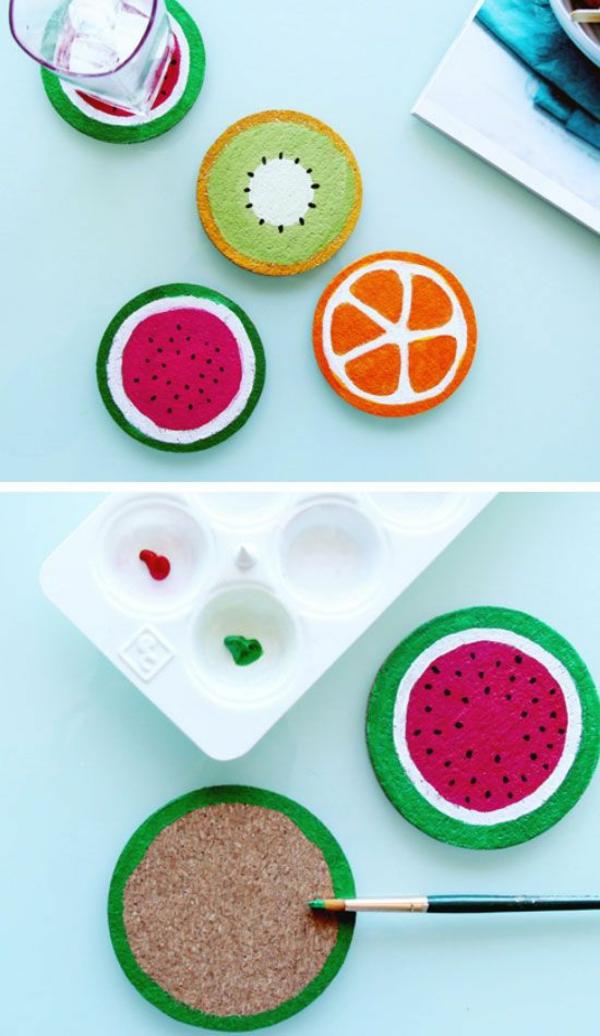 untersetzer früchte basteln mit kindern