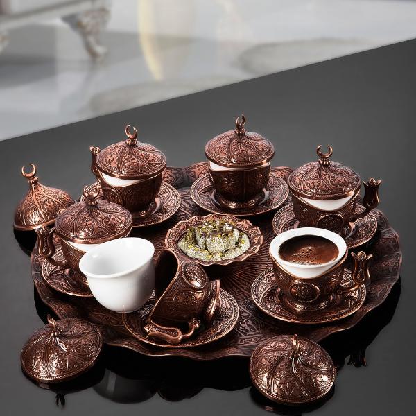 viele tassen kaffee türkischer kaffee