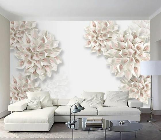 3d fototapeten florale muster callas
