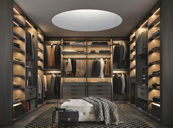 Ankleidezimmer für Männer garderobe mann stilvoll gestalten