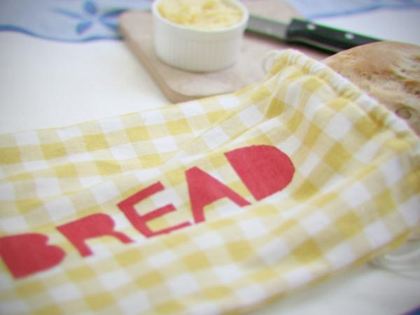 Brotbeutel nähen aus Geschierrtuch Brotbeutel Leinen