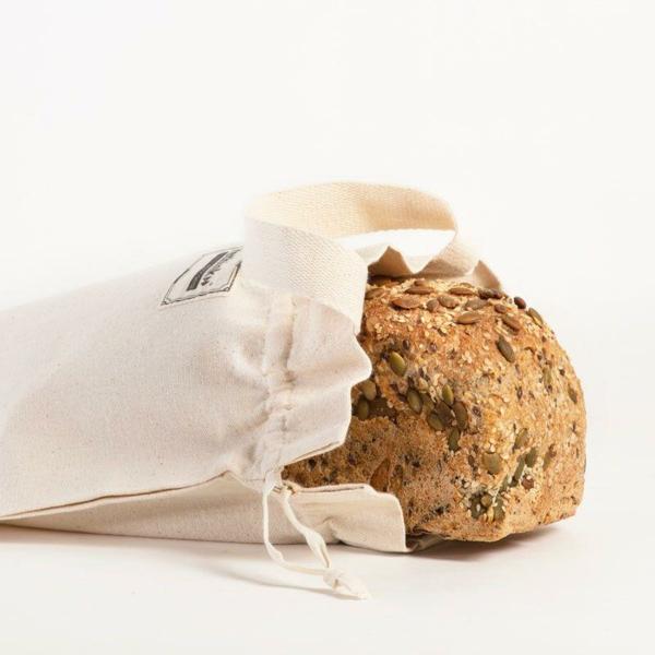Brotbeutel nähen aus Geschierrtuch Brotbeutel Leinen Brot aufbewahren