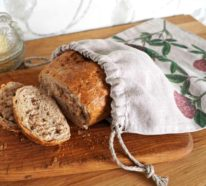 Brotbeutel nähen: Ein Brotbeutel aus Leinen hält das Brot länger frisch