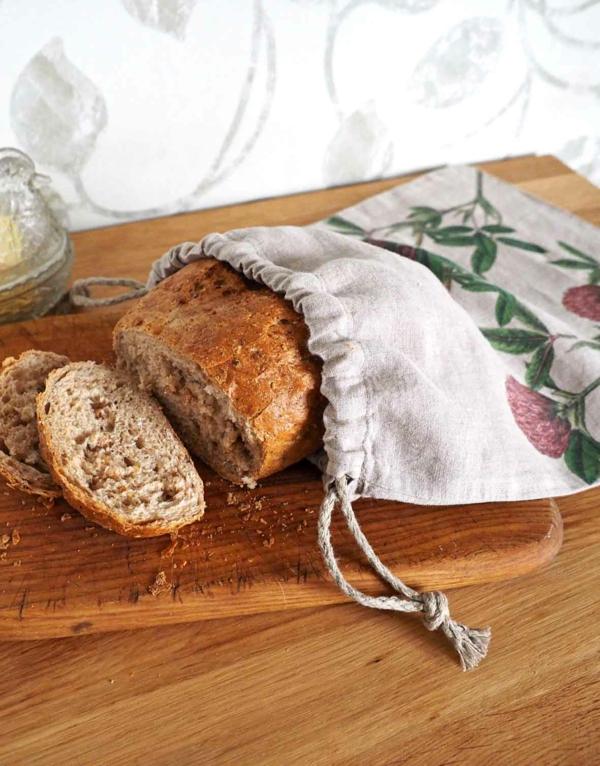 Brotbeutel nähen aus Geschierrtuch Brotbeutel Leinen Ideen