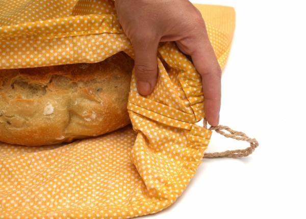 Brotbeutel nähen aus Geschierrtuch DIY Brotbeutel Leinen