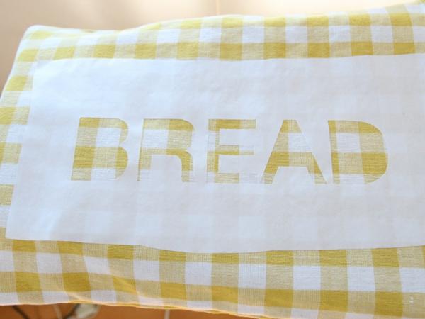 Brotbeutel nähen aus Geschierrtuch Schablobe erstellen