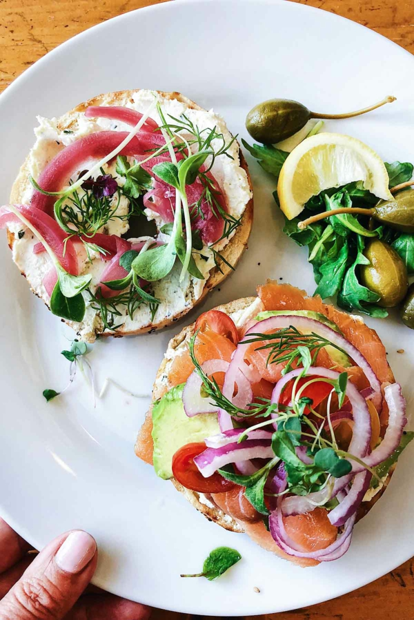 Brunch Ideen Avocado Lachs Sandwiches