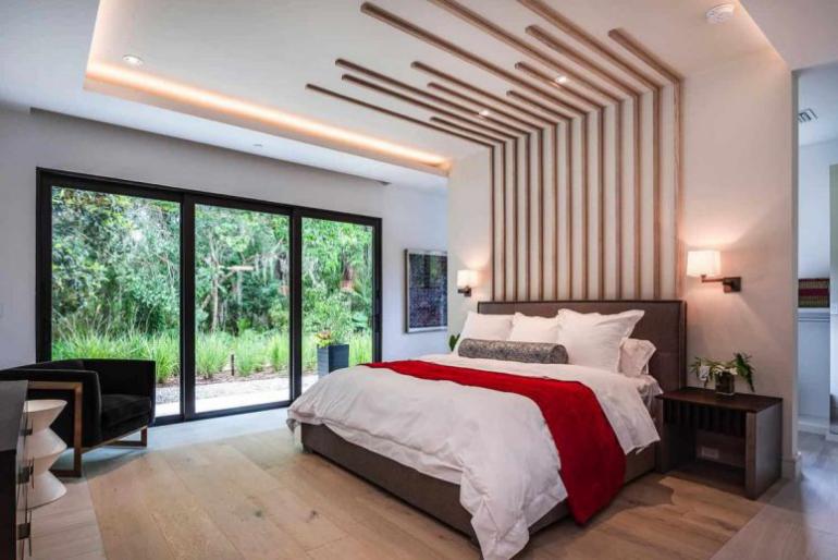Einfamilienhaus in Florida mit offenem Wohnkonzept Gästeschlafzimmer bequemes Bett