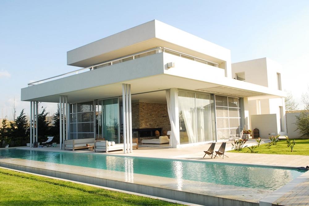 Gartenideen - tolle Ideen für die Fassade moderne Häuser