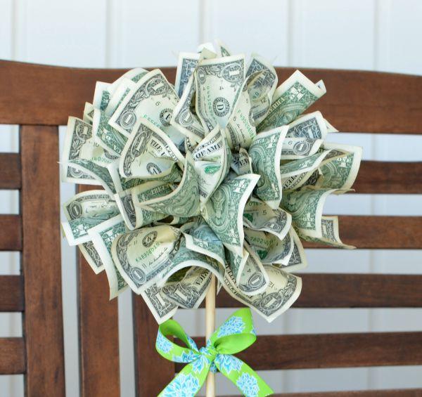 Geldbaum basteln – Kreative Geschenkideen für jeden Anlass styropor kugel geschenk geld