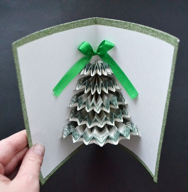 Geldbaum basteln – Kreative Geschenkideen für jeden Anlass weihnachten geschenk karte grußkarte