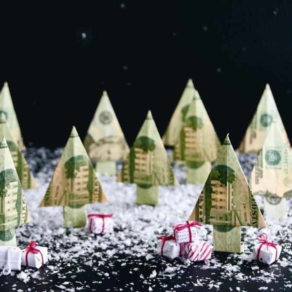 Geldbaum basteln – Kreative Geschenkideen für jeden Anlass weihnachten geschenk wald geld