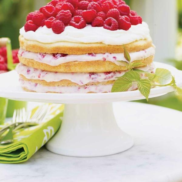 Himbeercreme für Torte Himbeertorte Himbeer Sahne Torte