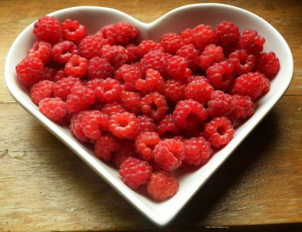 Himbeercreme für Torte Himbeertorte gesund frische Himbeeren