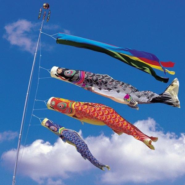 Japan Koinobori Fliegende Fische basteln