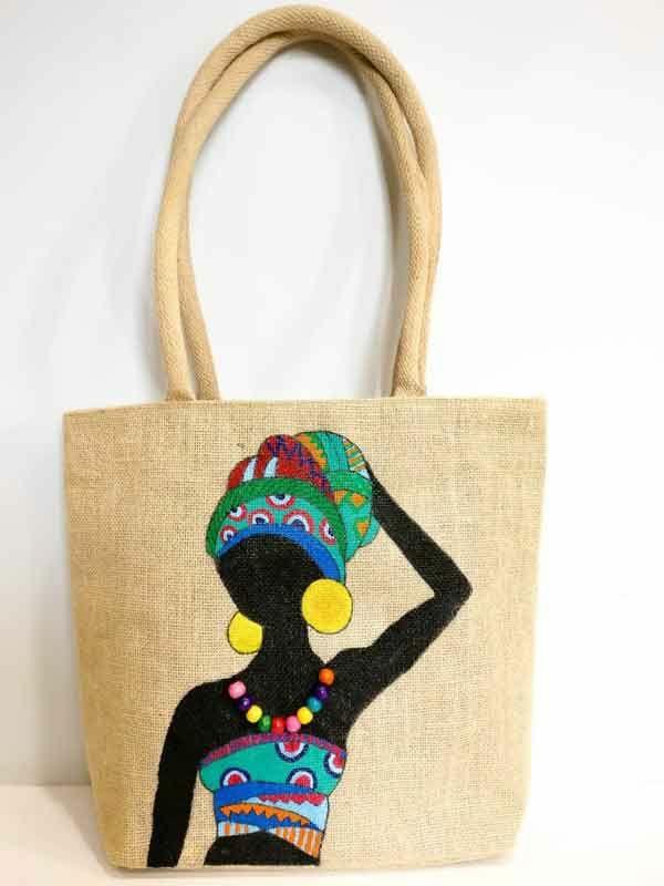 Jutebeutel bemalen Farben praktische Tipps Frau