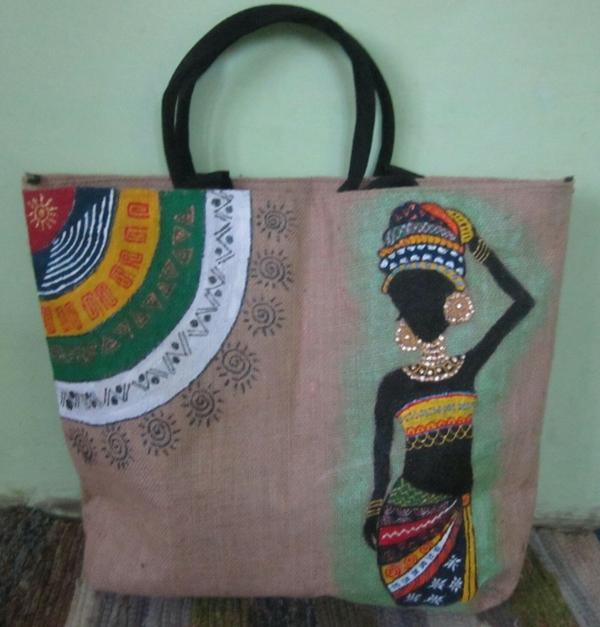 Jutebeutel bemalen Farben praktische Tipps afrikanische Motive