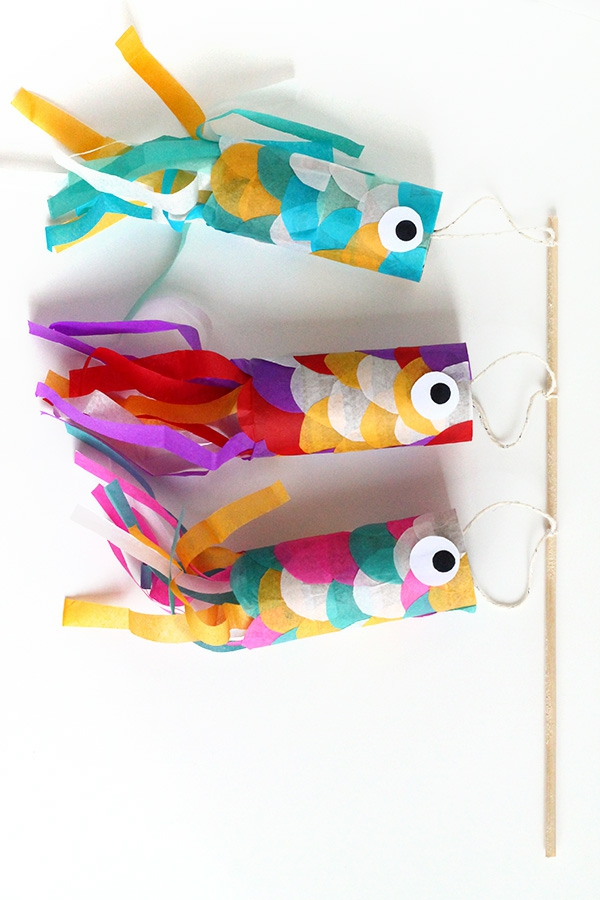 Koinobori Fliegende Fische basteln Ideen und Tipps