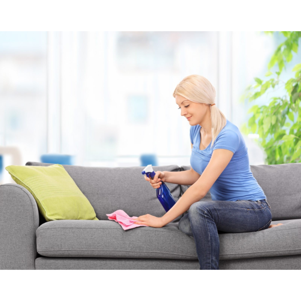 Lappen benutzen Sofa reinigen