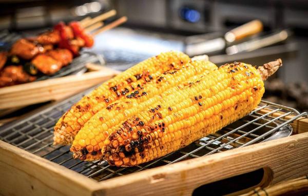 Maiskolben grillen nicht nur in Amerika auch in Deutschland beliebte Beilage zum Fleisch