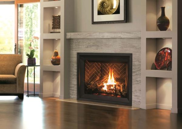 Modern, Rustikal oder gekachelt Der richtige Kamin fürs Wohnzimmer5