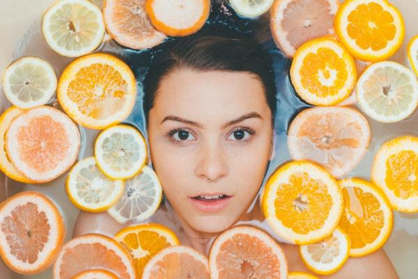 Obst gesund Gesichtsmaske