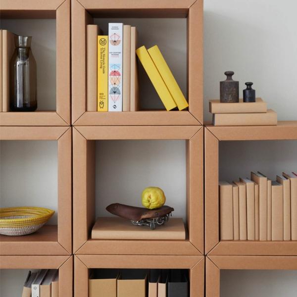 Pappmöbel Möbel aus Pappe Bücherregal