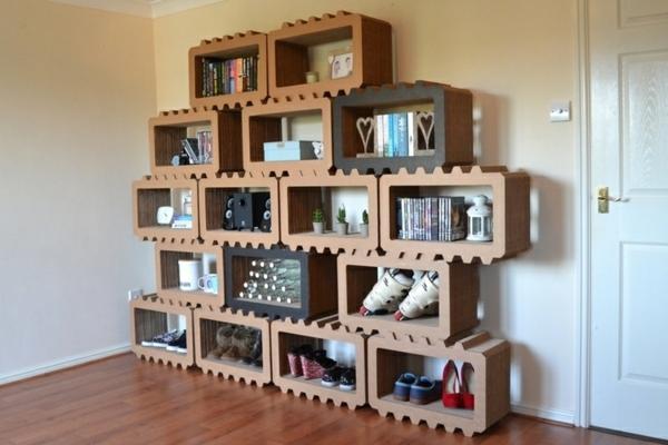 Pappmöbel Möbel aus Pappe Brix-shelves