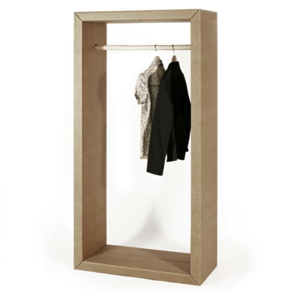 Pappmöbel Möbel aus Pappe Flur Kleiderschrank
