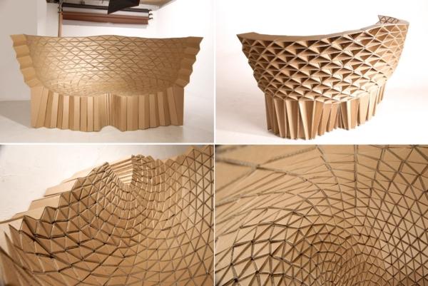 Pappmöbel Möbel aus Pappe Karton Sofa Design Struktur