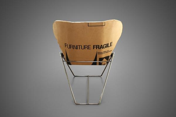 Pappmöbel Möbel aus Pappe Metallgestell Karton re-ply