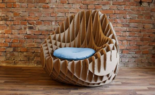 Pappmöbel Möbel aus Pappe Sessel aus Karton modern