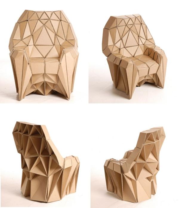 Pappmöbel Möbel aus Pappe Sessel aus Karton