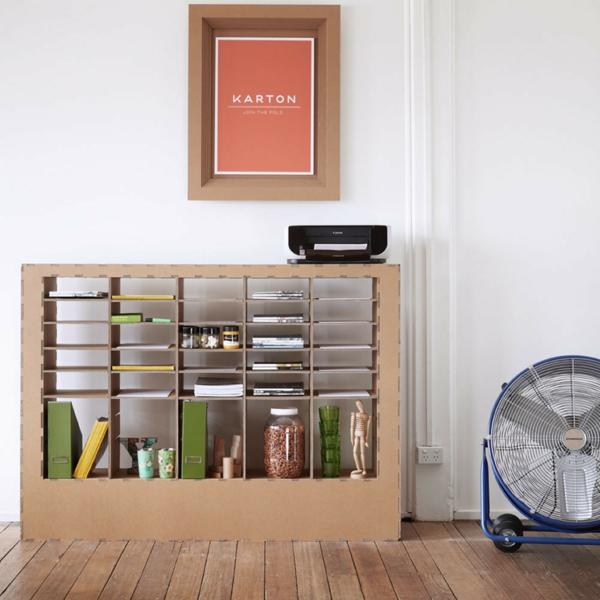 Pappmöbel Möbel aus Pappe Wohnzimmer Regal aus Karton