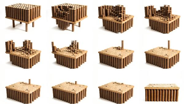 Pappmöbel Möbel aus Pappe david lee Designer