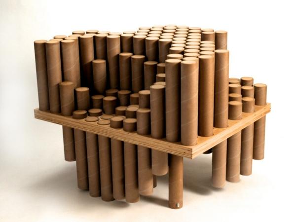 Pappmöbel Möbel aus Pappe david lee the continual cardboard chair
